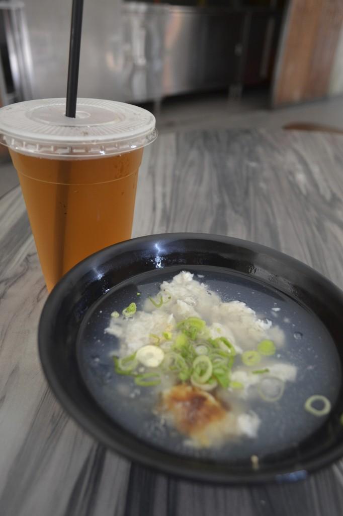Taste of Taiwan: fish ball soup and oolong tea
