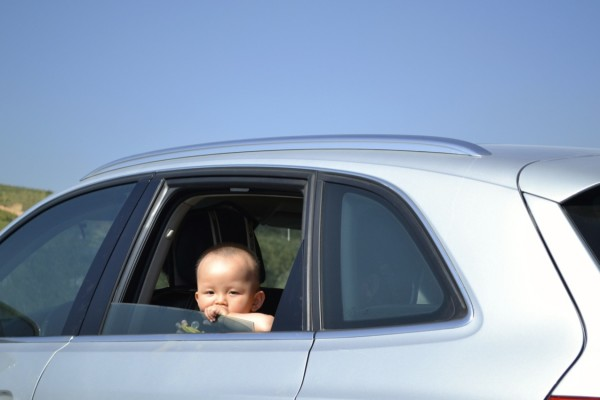 Also, babies are allowed to just climb around the backseat of a car