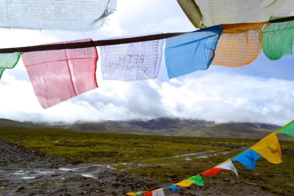 Gyatso Pass prayer flags