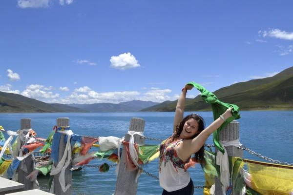 Tibet turquoise Lake