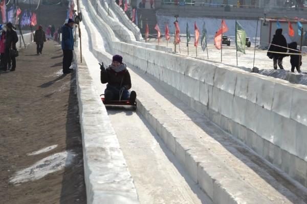 Harbin ice slide