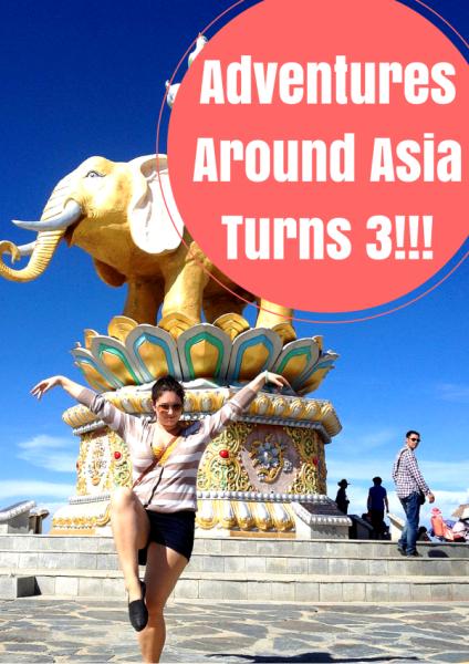 Adventures Around Asia Turns 3!