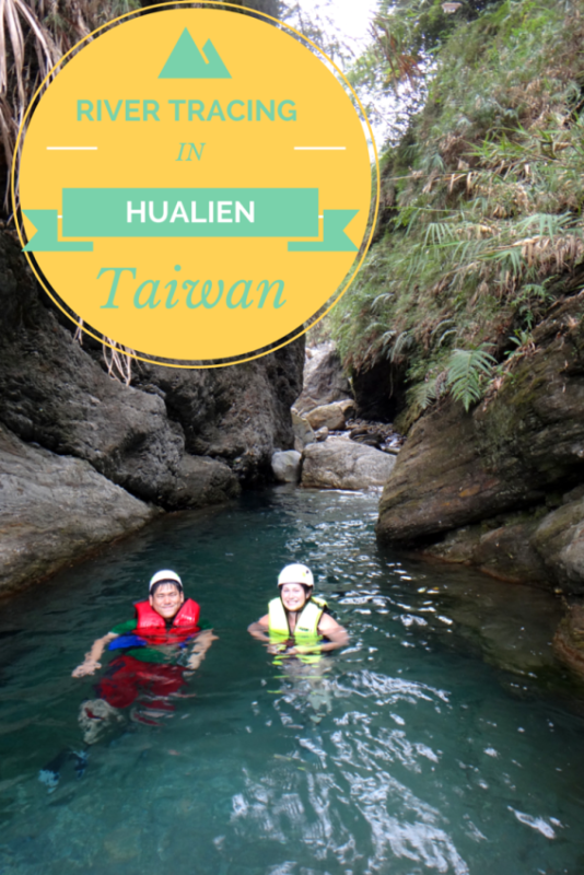 River tracing in Hualien, Taiwan