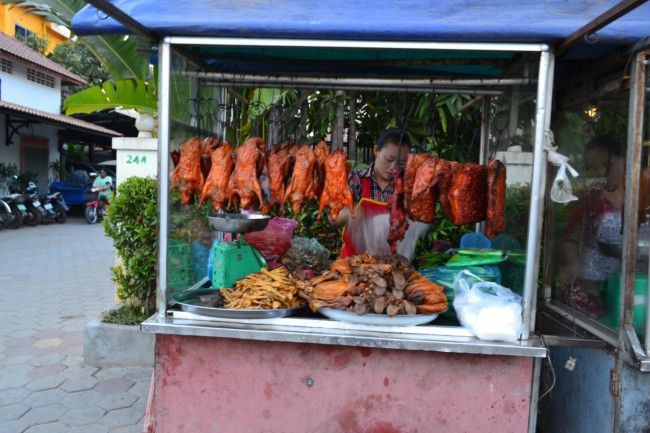 Cambodia chicken street food
