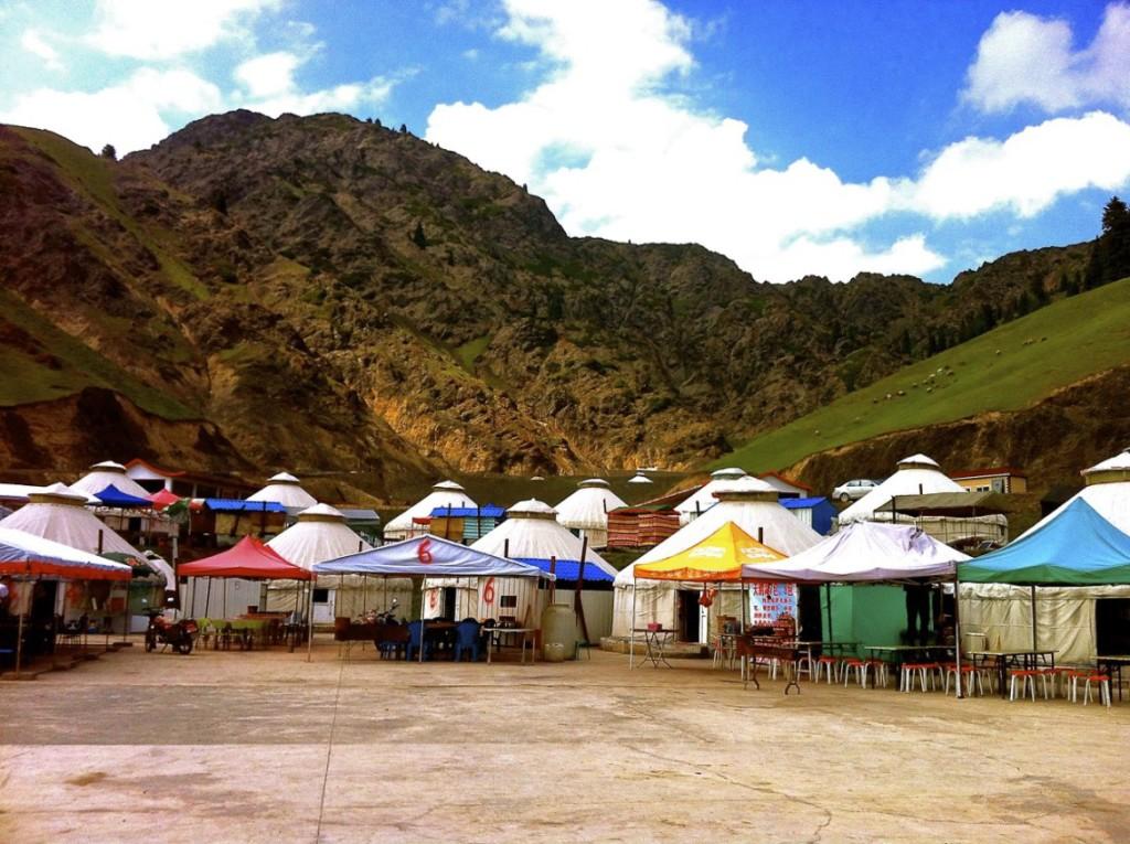 Yurts in Xinjiang