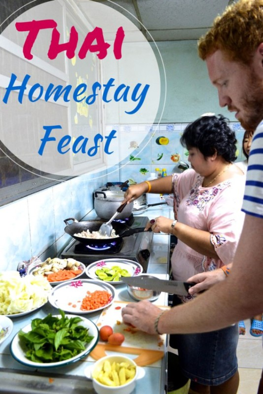 Stay with a local family and enjoy a huge home cooked feast!