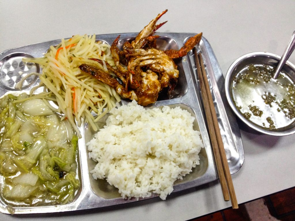 Chinese cafeteria food