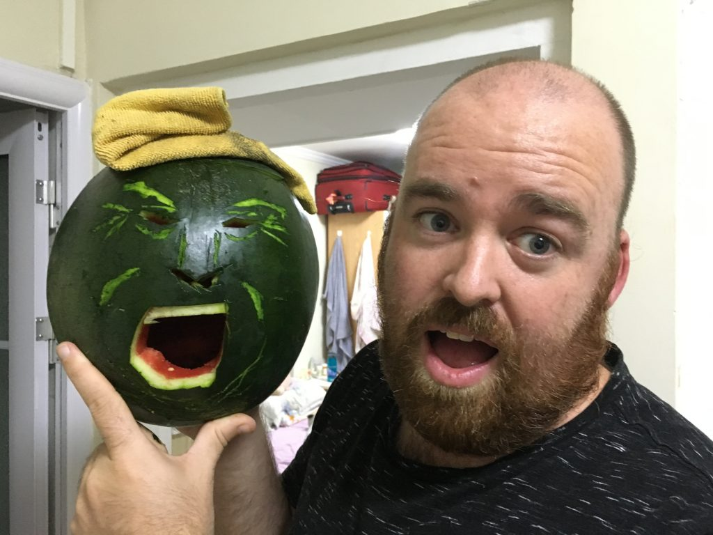 Trump Watermellon-O-Lantern