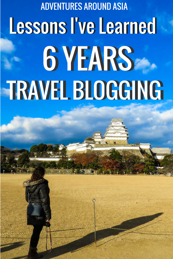 Do you want to be a travel blogger? Here are the major blogging lessons I've learned in 6 years of travel blogging! #travelblogging #travelblogger #digitalnomad #blogging #blogger #locationindependent