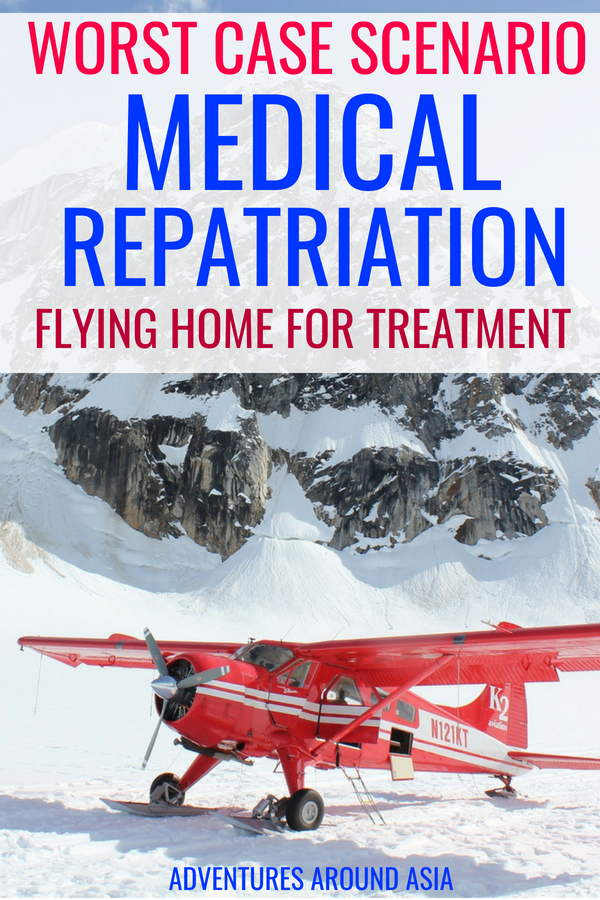 Disaster abroad? Here's how you can fly home for medical treatment using medical repatriation #travel #travelinsurance #adventure #abroad #medicine