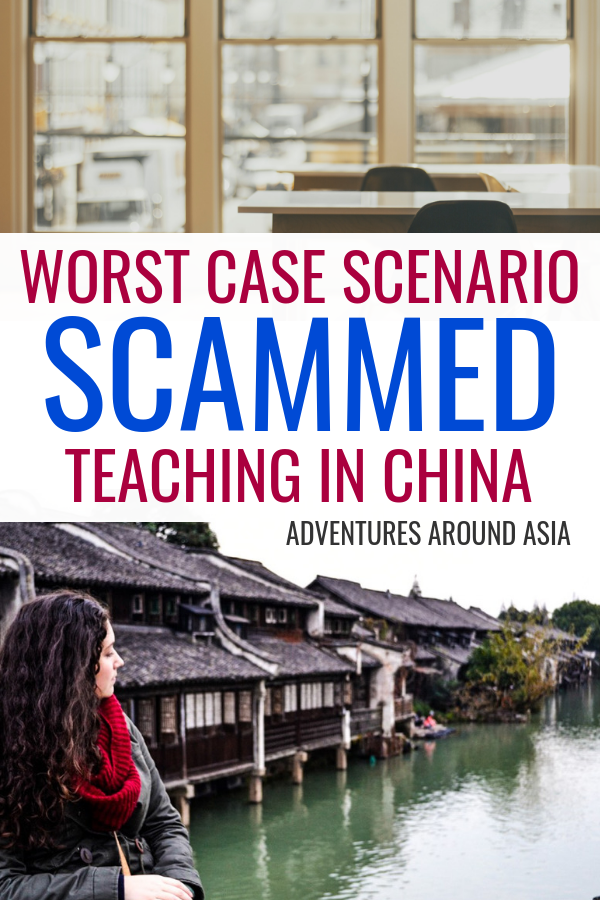 How do you avoid scam jobs while teaching abroad in China? Here are some of the biggest teach abroad scams in China and how to avoid them when finding a job teaching abroad! #teachabroad #china #expat #travel #travelblogger