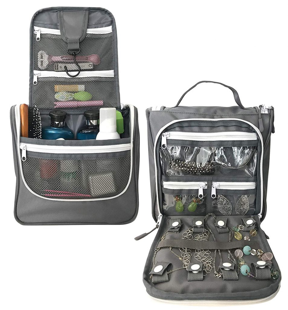 Travel toiletry organizer