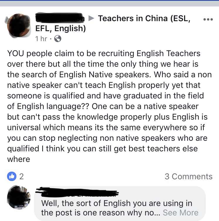 teach abroad non native speaker