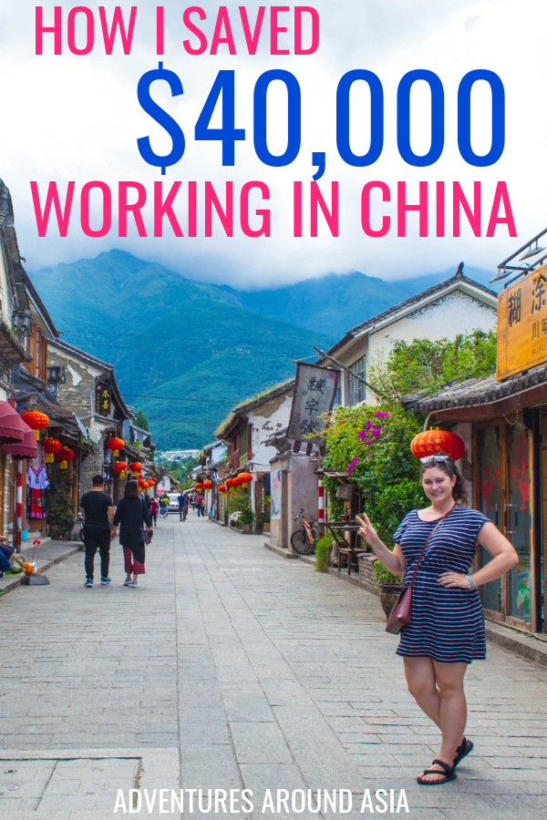 How to make money teaching abroad! Here's how I paid off my student loans and afford to travel the world as a digital nomad working online. I worked abroad in China and you can do it to! #china #travel #teachabroad #expat #money #digitalnomad #workonline #savemoney