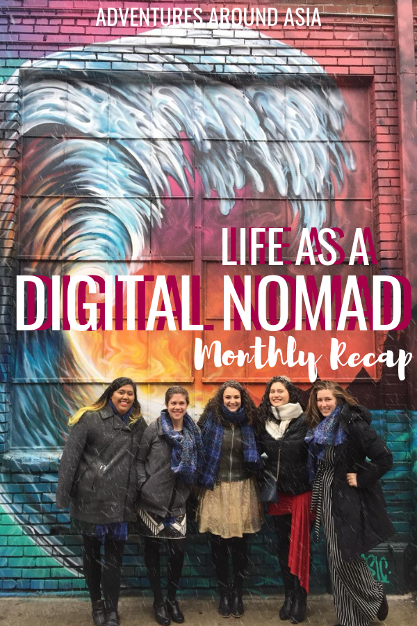 Wonder what it's like to live abroad as a location independent digital nomad? Follow the life of a travel blogger through this monthly recap! #blog #travel #travelblog #travelblogger #locationindependence #digitalnomad