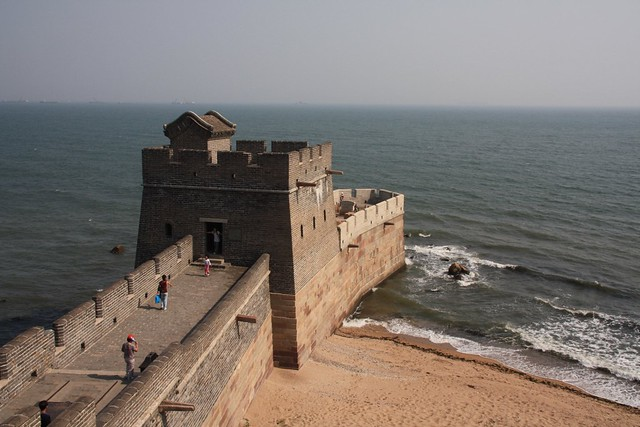 shanhaiguan great wall sea