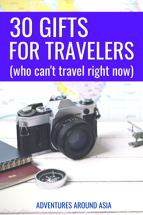 Need the perfect Christmas gift for a traveler who can't travel right now? Here are my holiday picks for your traveler whether they're at home or abroad! #travel #holiday #christmas #gift #traveler