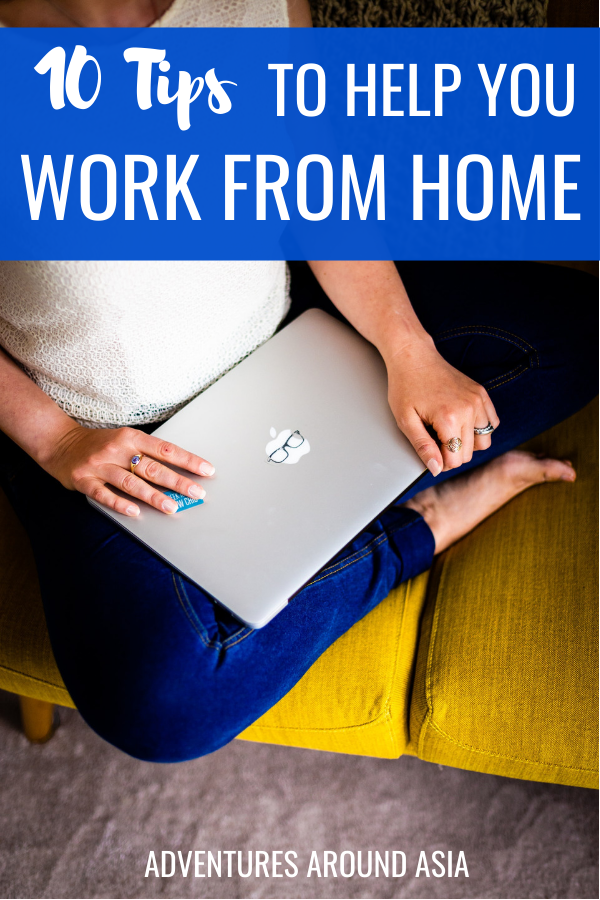 Are you new to working from home? Here are some tips to help you be comfortable and productive while you work remotely from home! #work #remote #workfromhome #digitalnomad #workremote