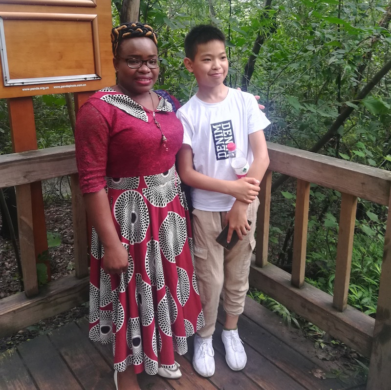 teaching in China black woman