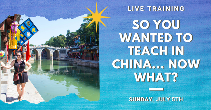 teach abroad live training