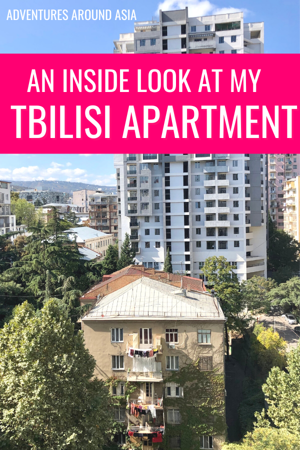 What's it like to live in Tbilisi Georgia? Here's an inside look at my Tbilisi apartment and apartment hunting as an expat! #tbilisi #georgia #travel #apartment #househunting #expat