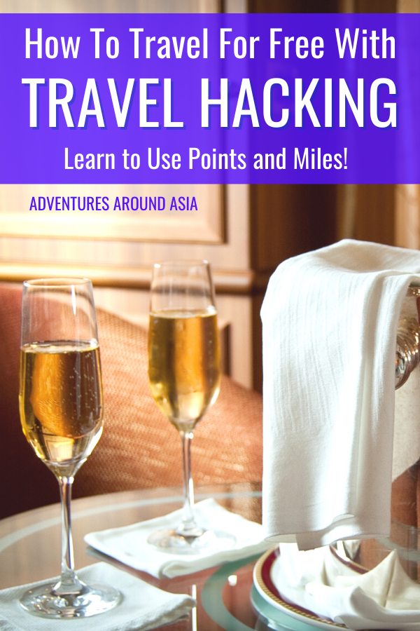 Do you want to travel for free? Here's how to use travel hacking to get great deals on flights and hotels while you travel! #travel #travelhacking #hotels #flights #firstclass #luxury #businesstravel